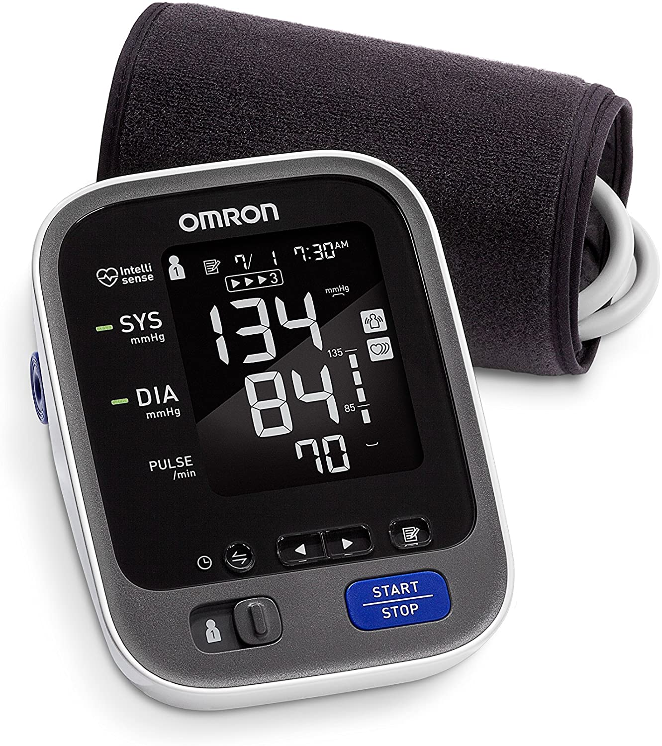 Omron 10 Series Wireless Upper Arm Blood Pressure Monitor; 2-User, 200-Reading Memory, Backlit Display, TruRead Technology, Bluetooth® Works with Amazon Alexa byOmron
