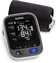 Omron 10 Series Wireless Upper Arm Blood Pressure Monitor; 2-User, 200-Reading Memory, Backlit Display, TruRead Technology, Bluetooth® Works with Amazon Alexa by Omron