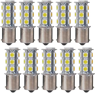 XCSOURCE 10PCS Warm White 1156 BA15S / 1141/1073 / 1095 Base 18 SMD 5050 LED Replacement Bulb for RV Camper SUV MPV Car Turn Tail Signal Brake Backup Light MA241