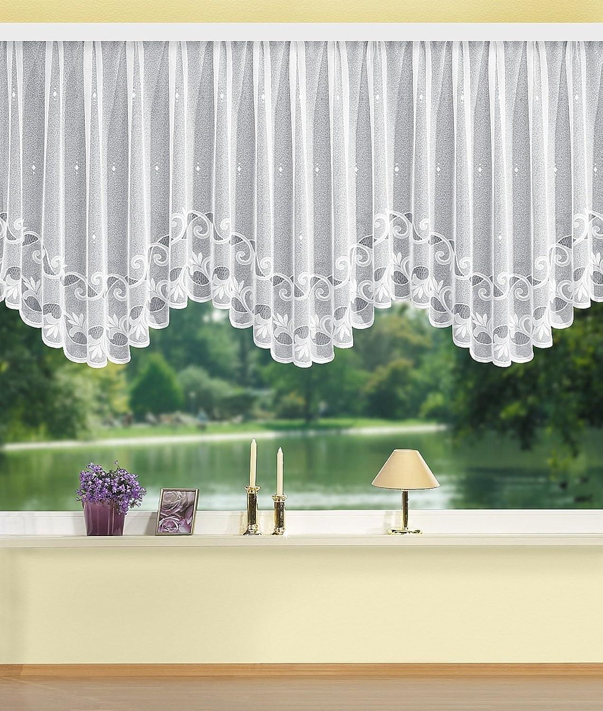 Home Fashion Bogenstore Jacquard, Stoff, wei, 120 x 600 cm