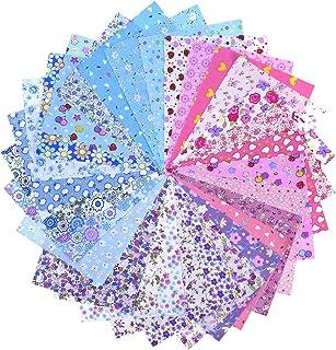 30 Pieces Fabric Patchwork Cotton Mixed Squares Bundle, 20 x 15 cm