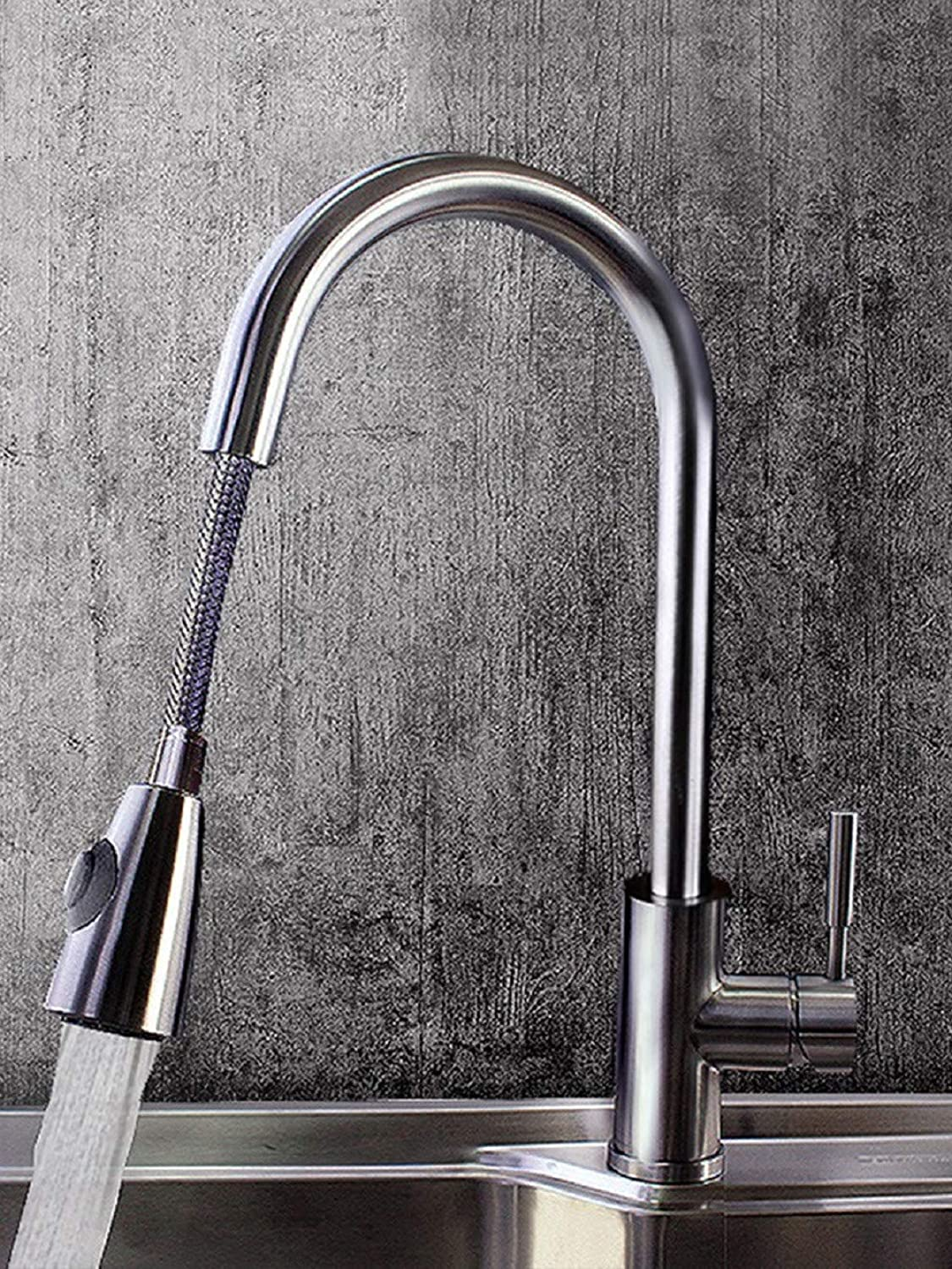 Kitchen Tap Pullable Cold and Hot Dishwash Basin Stretch Faucet Kitchen Taps Kitchen Sink Mixer Taps Basin Tap