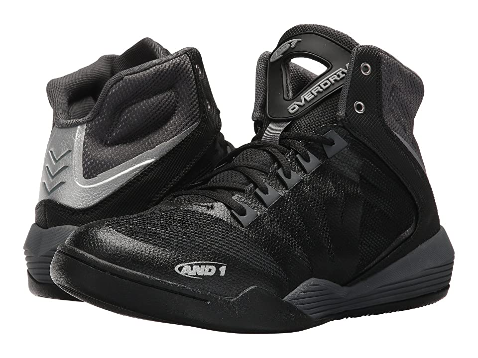 AND1 Overdrive (Black/Castlerock/Silver) Men
