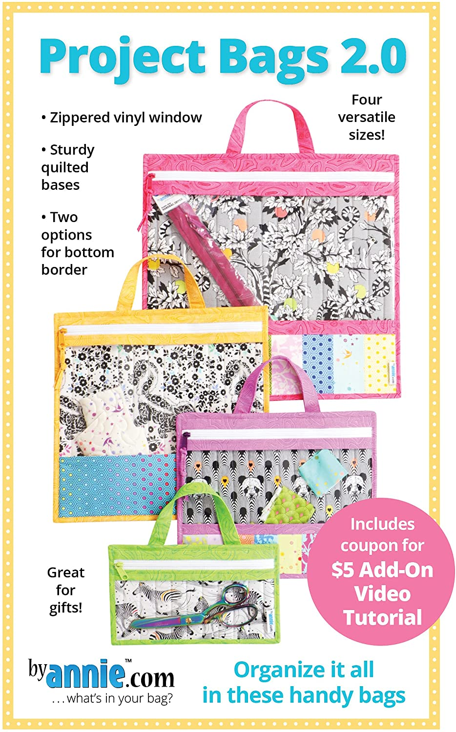 Annie Project Bags Pattern Cheap mail order sales 2.0 Special Campaign