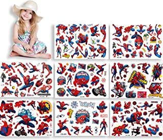 HONGECB Spider Man tijdelijke tattoo set, tatoeages stickers, kinder tatoeages voor spider man, superhelden kind tatoeage...