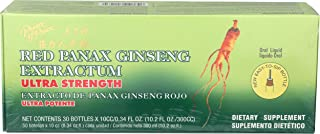 Prince of Peace Red Panax Ginseng Extractum Ultra Strength, 0.34 Fl Oz (Pack of 30)