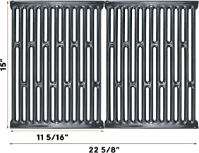 QuliMetal 15 Inch Cooking Grates for Weber Spirit 200 Series with Side Control, Spirit E/S 200 & 210, Genesis Silver A, Spirit 500, Porcelain Enameled Grill Grates for 7523 7521 7522 65904 65905