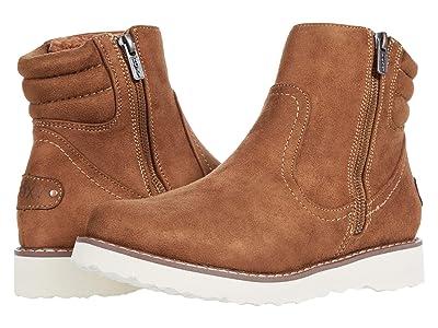 Roxy Jovie Fur Faux Leather Boots (Tan) Women