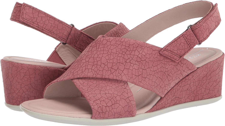 ECCO Womens Shape 35 Cross-Strap Wedge Sandal