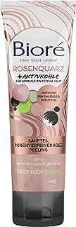 BIORÉ 26413 rozenkwarts + actieve kool gezichtspeeling - zacht en poriën verfijnd - voor normale en vettige huid - verfijn...