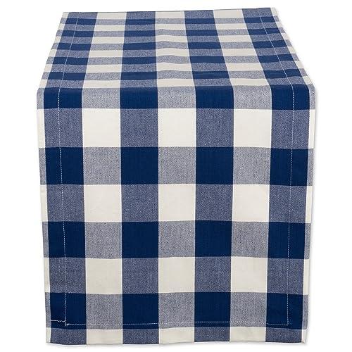 "lovemyfabric Cotton Patriotic Stars Print Table Runner 12/""X72/"" Inch Navy Blue"