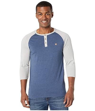 tentree Treeblend Planter Shirt (Dark Ocean Blue Heather/High-Rise Grey Heather) Men