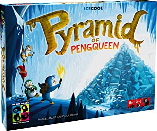 BRAIN GAMES Pyramid of Pengqueen 3D Board Game - A Thrilling Hide & Seek Game - Award Winning Strategy Game for Children, ...