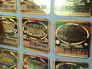 10 Holographic labels BY EtikettenWorld 17 mm x 30 mm ORIGINAL SEIGEL with serial numbers,EW-H-M120Es Tamper proof Water proof Security seal labels