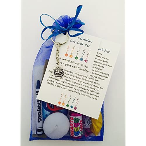 40th Birthday Survival Gift Kit Fun Happy Present For Him Her Choose