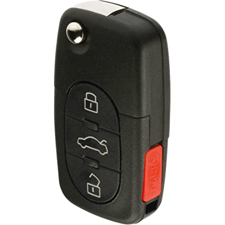 Aintier Smart Key Keyless Entry Remote Compatible for 01-04 Volkswagen CC 02-04 Volkswagen Beetle Pilot Key Fob Replacement for 4D0837231E 10X Key Fob Case