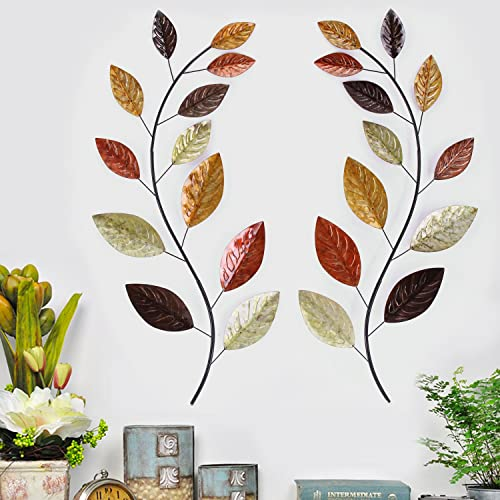 Metal Leaf Wall Decor Amazoncom