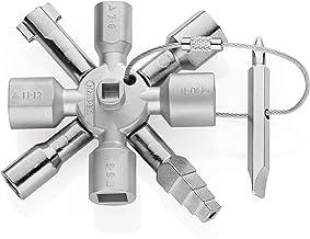 KNIPEX TwinKey Apparatskåpsnyckel för vanliga skåp- och avstängningssystem (92 mm) 00 11 01