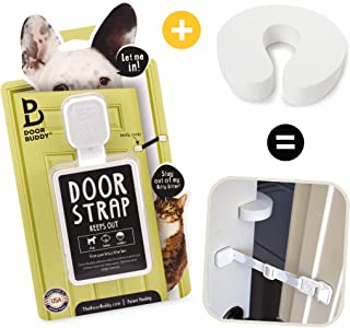 Door Buddy Door Latch Plus Door Stopper. Keep Dog Out of Litter Box and Prevent Door from..