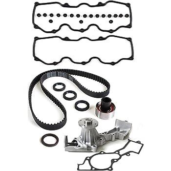 Amazon Com New Tck249wp 3 133 Round Teeth Timing Belt Seal Kit Water Pump Set Compatible With 96 04 Nissan Infiniti 3 3l V6 Sohc 12 Valve Vg33e Vg33er Automotive