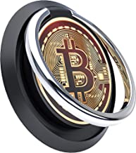 Sponsored Ad - Cell Phone Ring Holder, 360° Rotation Metal-Ring Finger Grip Stand with Gold Bitcoin Symbol Pattern Phone K...