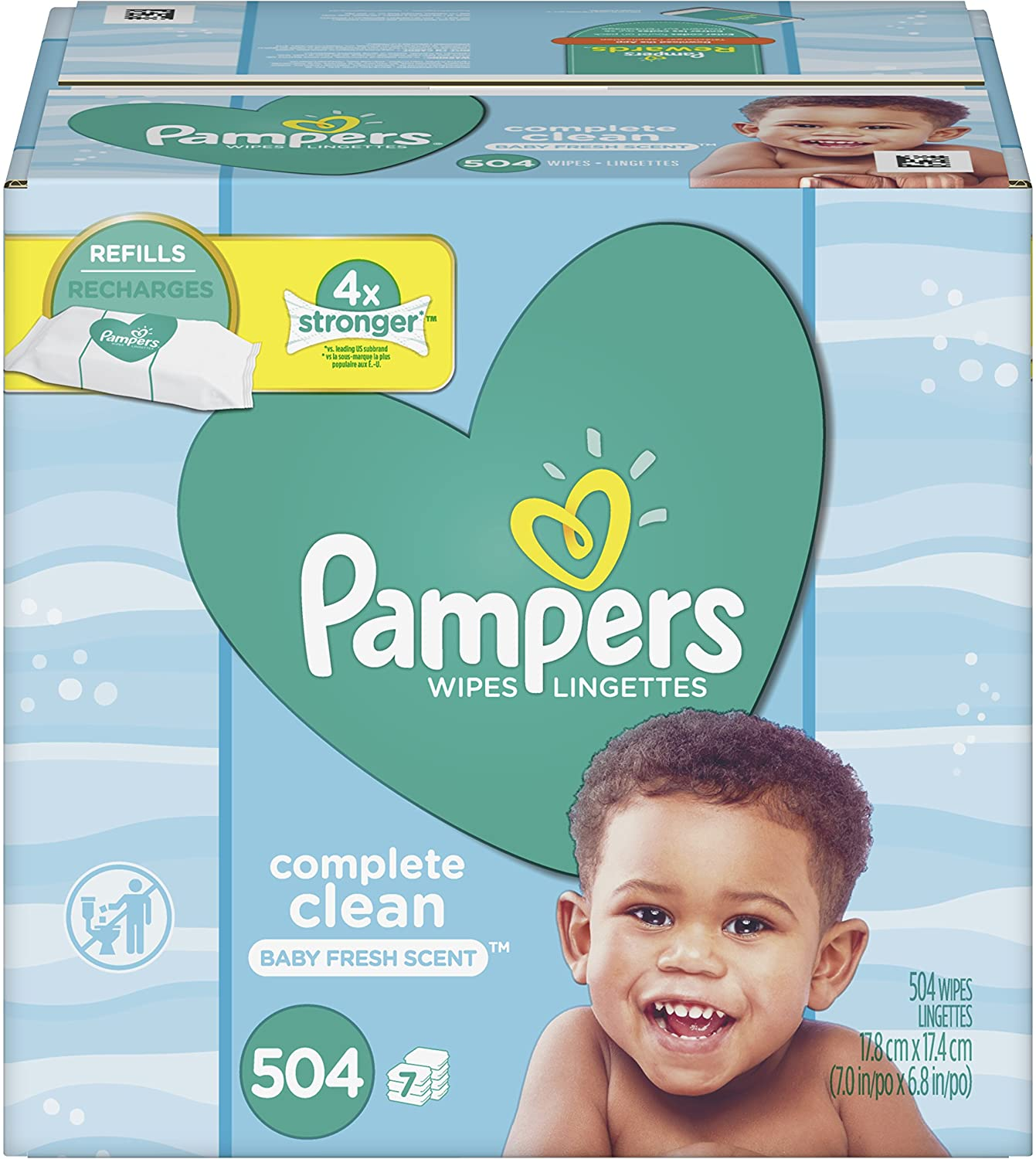 Baby Brand 1 year warranty new Wipes Pampers Diaper Clean 7 Complete Scented