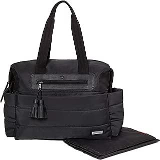 Skip Hop Diaper Bag Satchel with Matching Changing Pad, Riverside Ultra Light, Black