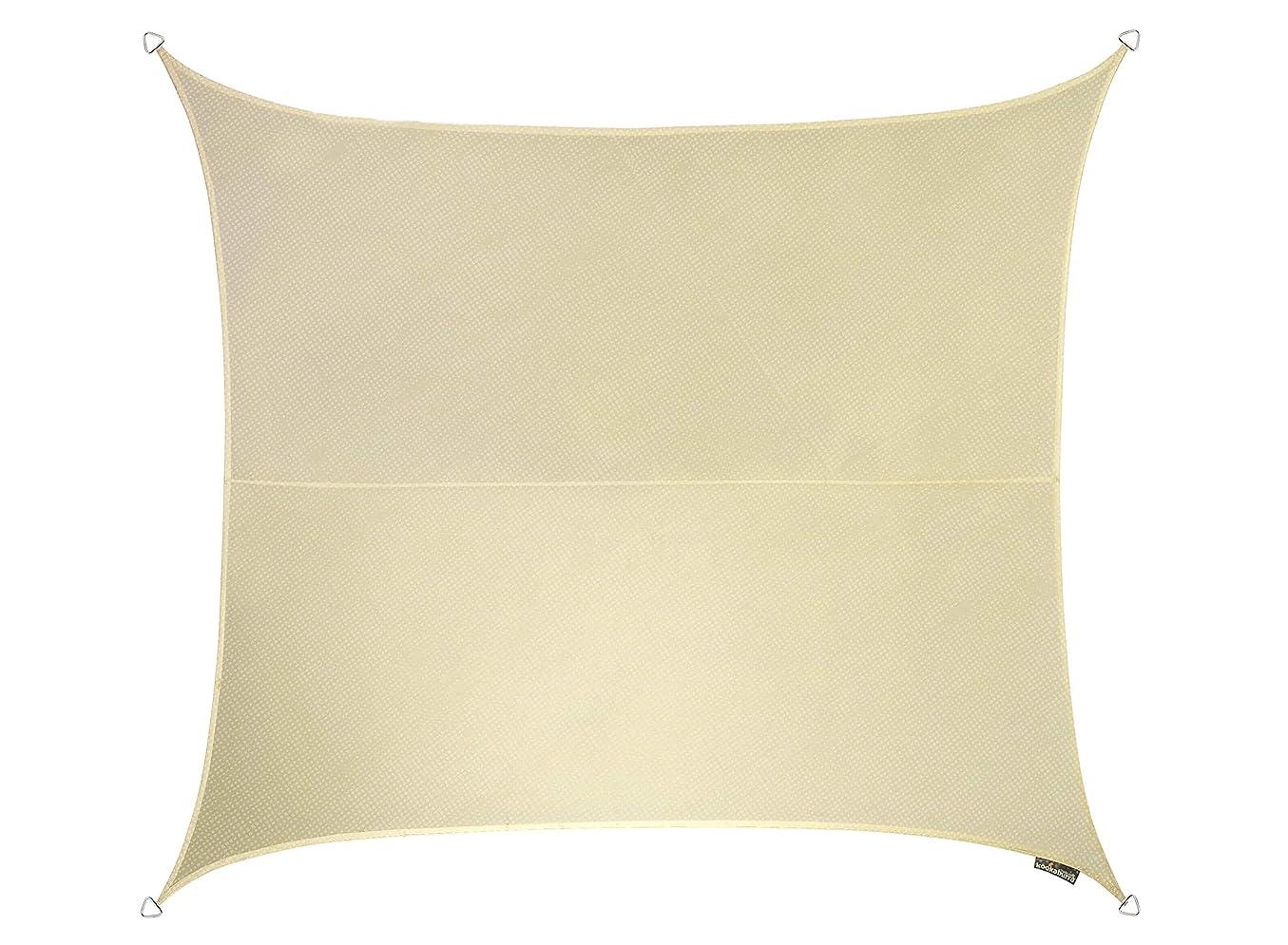 投票群れどこにでもクッカバラ アイボリー 通気性日除けシェードセイル(ニット織) - 紫外線93.3%カット - OL0121 (2m正方形)