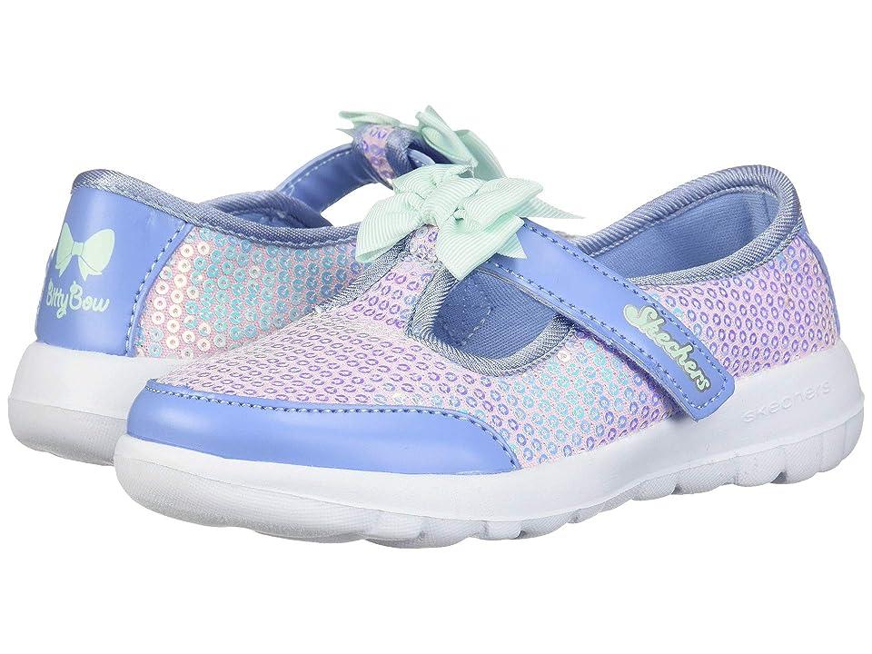 SKECHERS KIDS Go Walk Joy Sugary Sweet 81180N (Infant/Toddler/Little Kid) (Blue/Multi) Girl