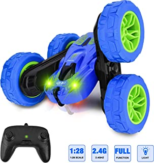 Rainbrace RC Cars Toys for 6-15 Years Old Boys Kids Adults Gift, Stunt Car 4WD Remote Control Car 360°Flips Double Sided Rotating Tumbling Racing Car Offroad 2.4Ghz High Speed RC Vehicles Toys Car