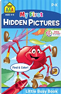 School Zone - My First Hidden Pictures Workbook - Ages 4 to 6, Preschool to Kindergarten, Activity Pad, Search & Find, Picture Puzzles, Coloring, and More (School Zone Little Busy Book™ Series)