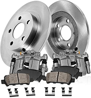 Callahan CDS02656 FRONT 355mm 4 Rotors fit Chevy Silverado Sierra 2500 Clips REAR 360mm D//S 8 Lug Brake Pads