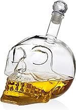 Skull Decanter Liquor Dispenser for Scotch Whiskey Wine or Vodka - 700ml