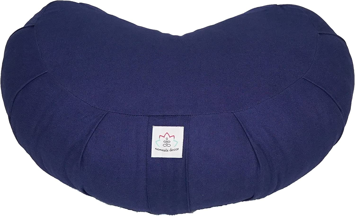 Cresent Cotton Zafu Meditation Cushion Navy bluee