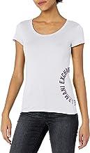 A|X Armani Exchange womens Circular Logo Crew Neck Short Sleeve T-Shirt Shirt