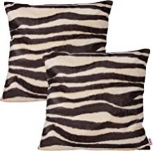Queenie® - 2 Pcs Faux Fur Throw Pillow Covers Cushion Cover for Sofa Pillow Case Available in 5 Colors and 6 Different Sizes (22 x 22 inch (55 x 55 cm), Siberian Tiger)