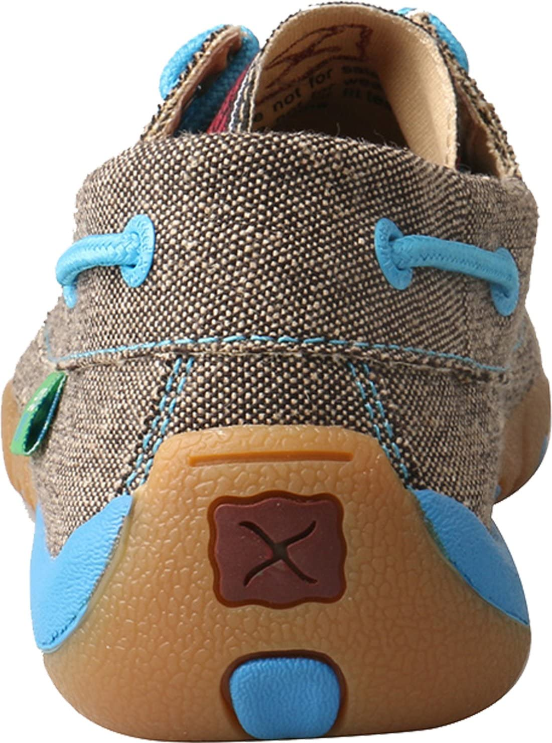 Twisted X Womens Boat Shoe Canvas Driving Moccasins