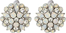 Nina - Opal Floral Stud Clip Earrings
