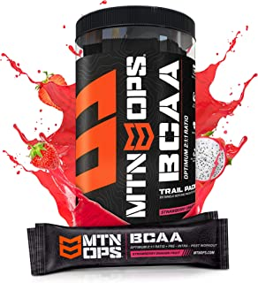 Sponsored Ad - Mtn Ops Bcaa 2:1:1 Muscle Building & Recovery Supplement, Strawberry Dragonfruit Flavor, Trail Packs, Straw...