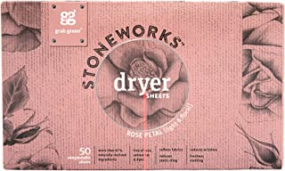 Stoneworks Dryer Sheets Rose Petal Grab Green 50 Sheets Pack
