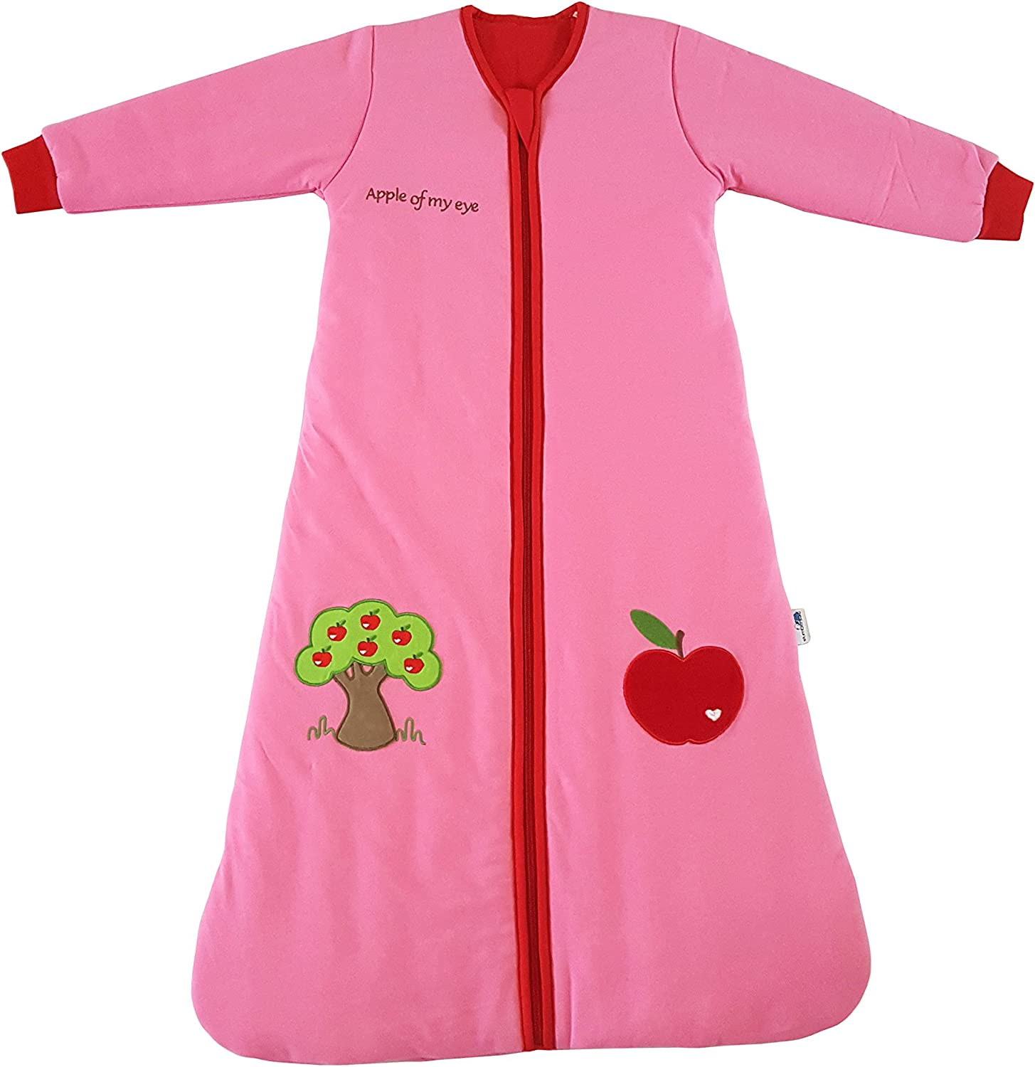 Slumbersac Sleeping Bag with NON REMOVABLE Long Sleeves 3.5 TogRed Apple  06 months 27 inch