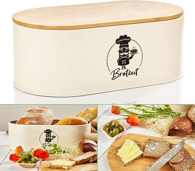 76 opinioni per bambuswald© contenitore pane in metallo con coperchio in bambù ecologico- ca