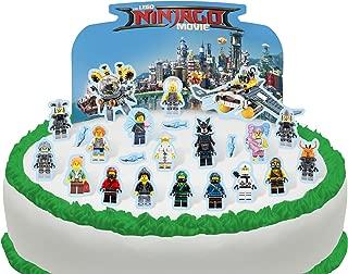 Cakeshop PRE-CUT Lego Ninjago Movie Edible Cake Scene - 24 pieces