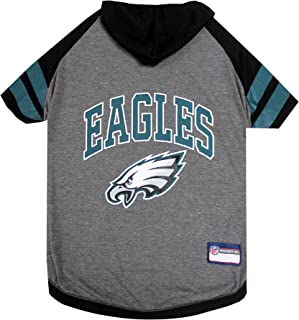NFL Philadelphia Eagles Hoodie for Dogs & Cats. | NFL Football Licensed Dog Hoody Tee Shirt, X-Small| Sports Hoody T-Shirt...