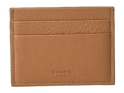 Shinola Detroit Five-Pocket Card Case (Cognac) Wallet Handbags