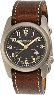 Bertucci A-2T Classic Field Watch Black/Ti-Horween Brown Band 12712