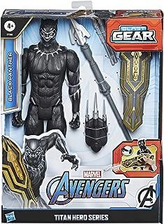 Avengers Marvel Titan Hero Series Blast Gear Deluxe Black Panther Action Figure, 12