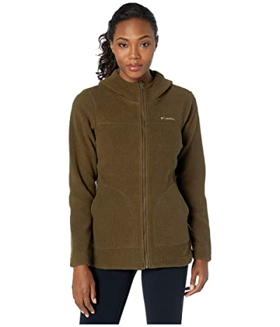 Columbia Canyon Pointtm Hooded Sherpa Full Zip (Olive Green) Women