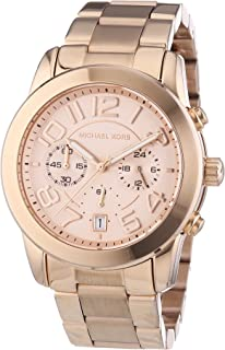 MK5727 Women's Mercer Rose Gold-Tone Stainless Steel Bracelet Chronograph Watch