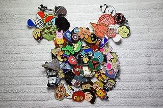 Random Disney pin lot 50 Mixed 100% TRADABLE Rubber Mickey Ears Back Pins Fast US Shipper-by NANSY